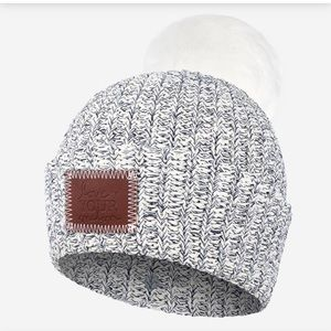 Love Your Melon NAVY SPECKLED POM BEANIE